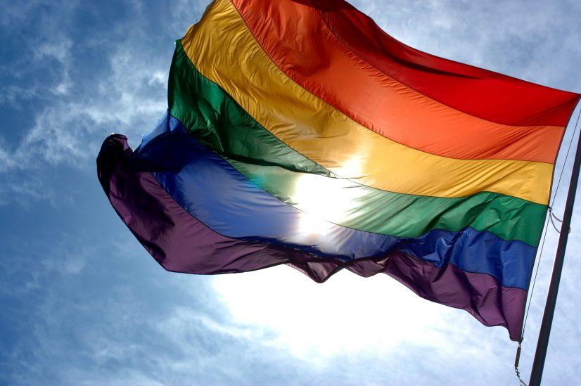 Gay Rainbow Flag Photo