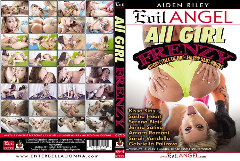 All Girl Frenzy Porn DVD Image